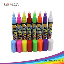 Newest cap with clip 6mm reversible liquid chalk whiteboard marker