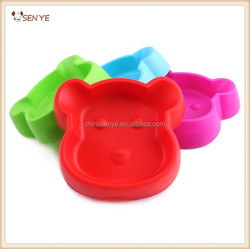 Cheap plastic pet dog Bowls dog face dog bowl