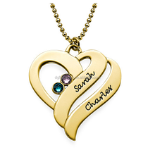 hot new products for 2015 stainless steel women gold heart necklace with engraved name