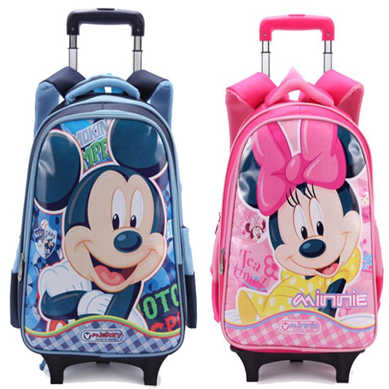 Lovely Hello Kitty Girls Trolley School BAGs Rolling Backpack ... 51b75ff71d