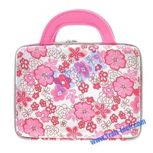 """10"""" Laptop Notebook Pink Floral Water-proof Hard Shell Carrying Laptop Case Bag"""