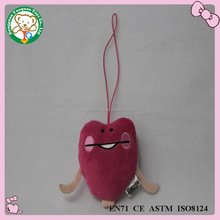top quality keychain 2015 promotion gift plush toys free sample