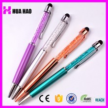 Advertising capacitive crystal touch pen promotional crystal metal pen with logo print decorative ballpoint pen