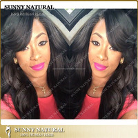 Body Wave indian women long black hair wigs full lace wig lace front wig with quick shipping