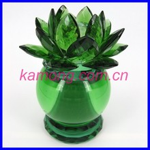 Table paperweight glass crystal lotus flower for decoration