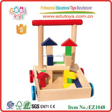 Push Baby Walker with Wooden Blocks