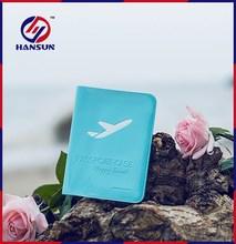 HS790-1 PVC plastic wallet embossed leather passport holder