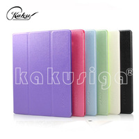 OEM service manufacture professional 3-folding leather smart cover case for ipad 2