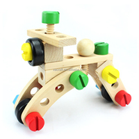 Wooden children's intelligence assembly to remove toys