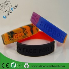 High quality Custom Cheap Silicon Wristband Swirl