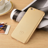 Golden Luxury Factory Leather Hard PC Case Cover For iPhone 6 Yellow PU Mobile Phone Accessory for iPhone6 PU Back Cover Case