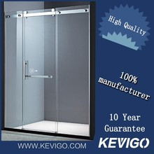 Factory Directly Selling Simple Glass Sliding Door Bathroom Luxury Shower Cabin With Frameless Glass Hinges Bath Room