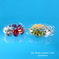 China Supplier Disposable Plastic fresh-cust fruit packing box with flower edge