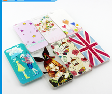 Wholesale Quality Ultra Thin Transparent Hard Plastic, Cartoon Plastic Cover for Iphone 5s, Soft Thin Slim Back Cover Case