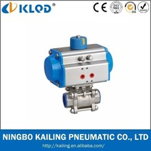 High quality Standard 3 pcs rotary pneumatic actuator KLDN-50