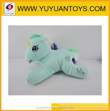 Hot new product for 2015 lovely horse plush stuffed toy with light and sound