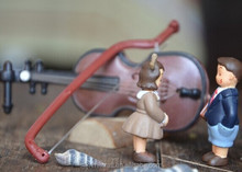 Japanese design DIY mini figurine resin small human figure