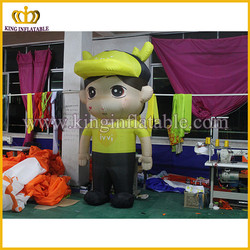 Inflatable type figure model for activities, inflated boy model replica