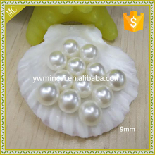 9mm round shape pearl no hole colorful for jewelry accessories