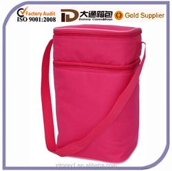 Promotional shoulder strap bottle cooler bag