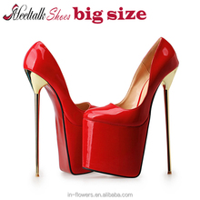 Wholesale quality Europe 40-50 big size shoes red sole 20cm very high heels super platform shoes