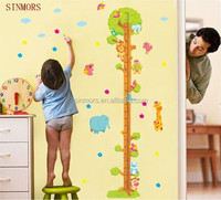DIY Cartoon Animal Tree Growth Chart Decals Room Decor Sticker Quotes Removable Vinyl Kids Height Measurement Wall Stickers Text