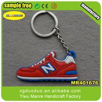 silicone Jordan Nike football sneaker basketball shoes 2d key chain