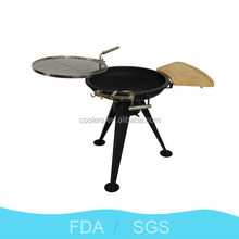 2014 Zhejiang Yongkang hot sale Outdoor Camping Height-adjustable BBQ Grill iron safe grill for picnic 43 inch heigh