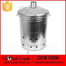 Garden incinerator-100L.Garden Waste Wood Leaves Incinerator Fire Bin with Lid .G0012