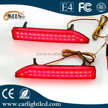 LED Rear Bumper Reflector Light,Night Running Light and Brake Light Function for 2009 Honda CRV