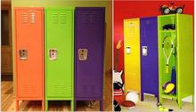 0.6mm Ikea CKD Single Door Colorful Steel Dress Cabinet / Metal Lockers Storage Cabinets/ Metal Kid Toy Cabinet (DL-SL1 )
