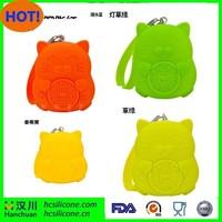 2015 hot selling cat shape silicone key case, waterproof key case, key case holder bag