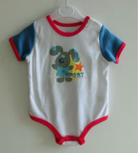 Cute printed 100% cotton baby bodysuit, baby wear, baby clothes