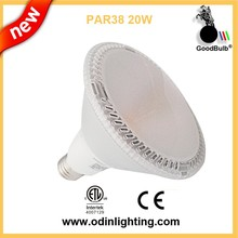 New design cold forging aluminum warm white cob 100-277v led par light par38