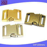 20mm gold metal bag buckle,metal paracord buckle,small buckle for bracelet