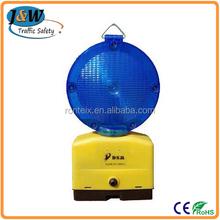 2015 New Design Blue Flashing LED Warning Light / Solar Warning Lamp