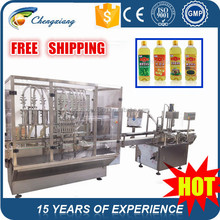 Shanghai Full auto olive oil filling machine,washing and filling olive oil bottles