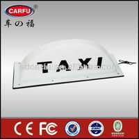 Plastic multi size car / taxi advertising top lights made in China