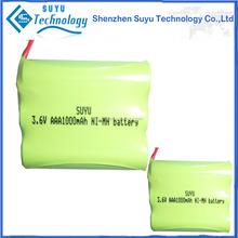 nimh battery pack/1.2v 40mah nimh button cell/nimh battery pack 2.4v FOR SHENZHEN SUYU BATTERY