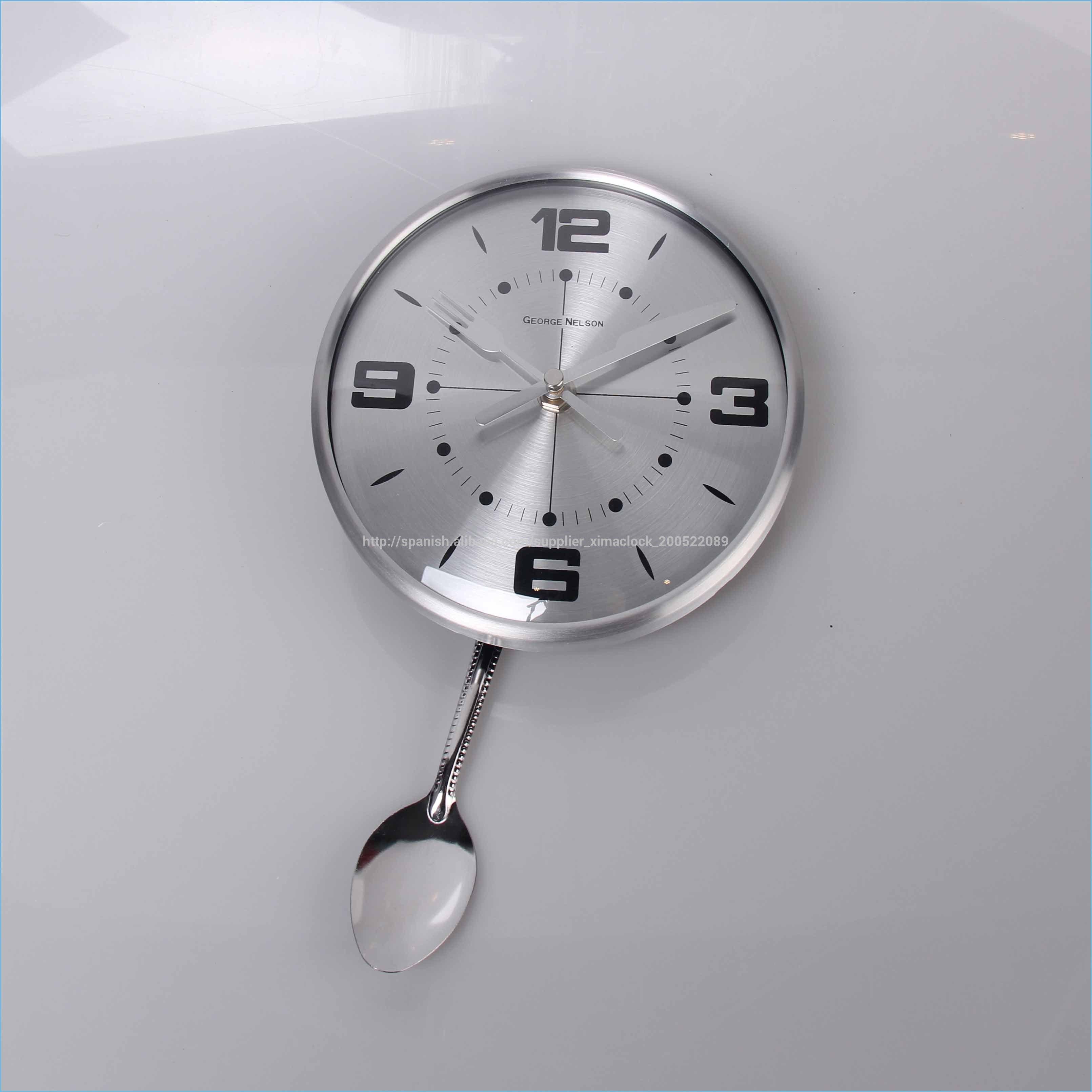 Nuevo elemento de cocina reloj de pared de acero - Relojes pared cocina ...