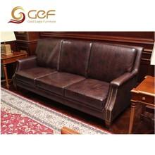 Teak wood sofa sets genuine dubai leather sofa furniture