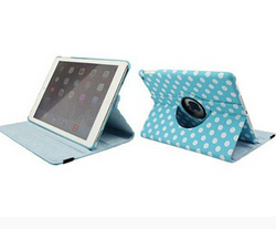 Slim foldable 360 degree rotating polka case PU leather Case Cover for iPad 2,3,4