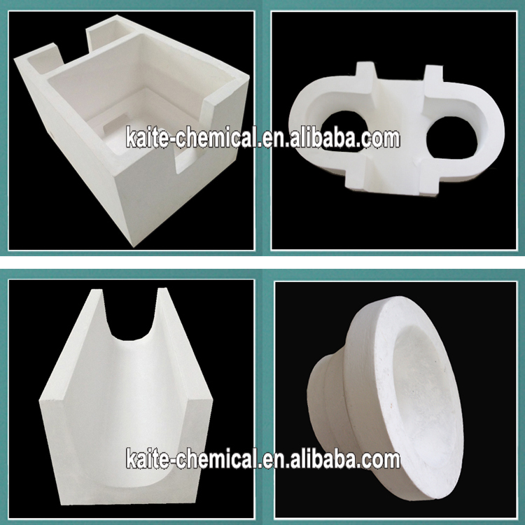 Aluminum Silicate Bricks : Float block and riser sleeving for split flow molten