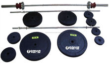 Weight Lifting Set Rubber Weights 187 Kg