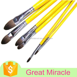 High quality weasel hair plastic artist painting set for water color painting brush