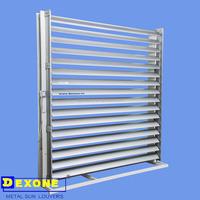 Metal motorized adjustable sun control louver (Aerofoil)