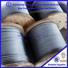 Chinese steel wire rope manufacturer 6*12+7FC steel rope steel for snap trawlers with wire rope certificate ISO9001