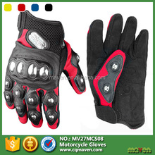 2015 Custom Sports Racing Leather Motor Bike Gloves Manufacturer MV27MCS08