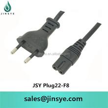 korea power plug/eu plug 110v 2 pin round pin european plug