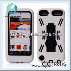 Rugged Hybrid Kickstand Case for ipod Touch 5